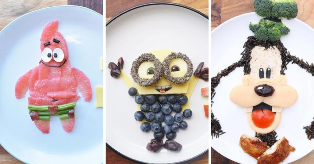 This man transforms ordinary food into cute animated cartoons