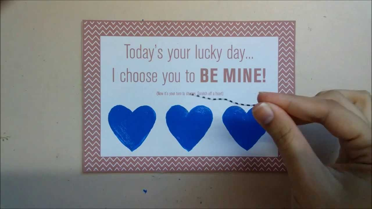 Make Your Own Scratch Off Cards For Any Occasion