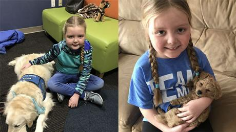 Suffering From A Brain Tumour, This Little Girl Finds Comfort In Dogs