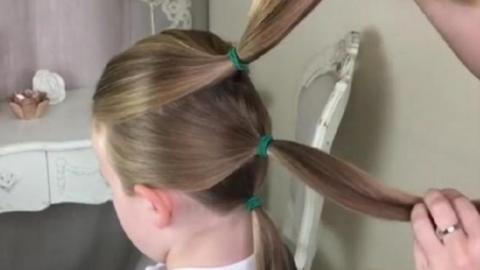 She Takes Three Simple Ponytails And Does A Stunning Braid