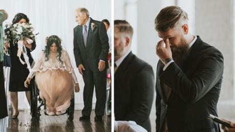 She's Been Paralysed For Nearly A Decade. On Her Wedding Day, The Most Incredible Thing Happens