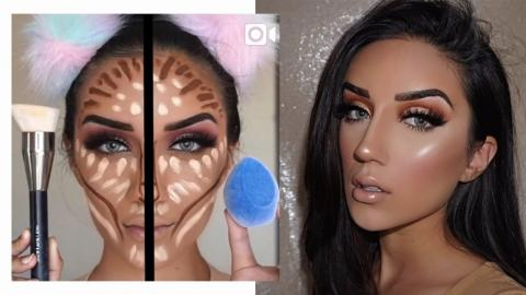 She Does Mind-Blowing Makeup Using Just A Sponge