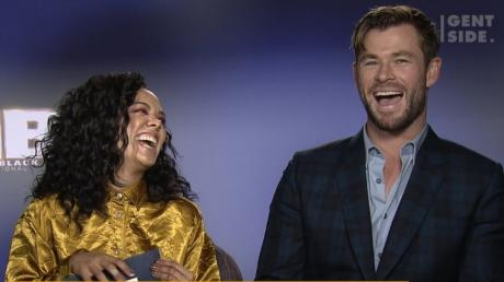 Men In Black: International Stars Chris Hemsworth And Tessa Thompson Respond To Our Questions! (VIDEO)
