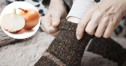 She Places One Slice Of Onion In Her Socks Each Night And It's A Game-Changer