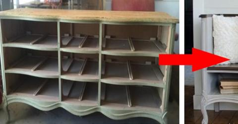 This Ugly Old Furniture Is Completely Transformed Into Something Really Practical