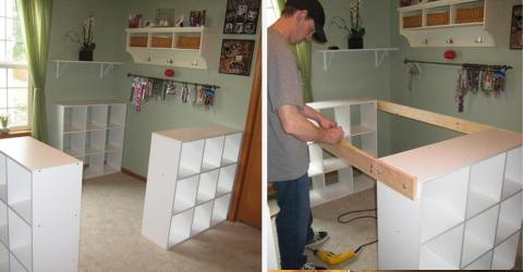 & This Man Transform 3 Simple Ikea Shelves Into A Superb Kitchen Counter