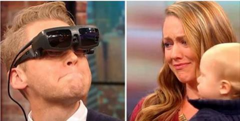 This Blind Man Saw His Wife And Child For The First Time And His Reaction Is Beautiful