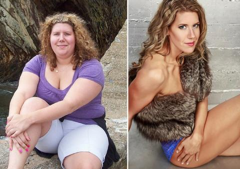 This Woman Was Unrecognizable After She Lost Half Her Body Weight And Became A Model