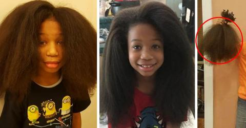 This 8-Year-Old Boy Let His Hair Grow Out For 2 Years For A Beautiful Reason