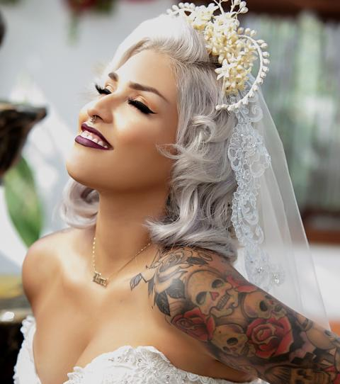 Tattooed Wedding Dresses
