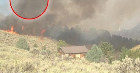 After Escaping A Fire, She Spotted Something Terrifying In The Air Above The Flames