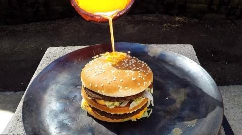 He Poured Molten Copper Over A Big Mac And Something Extraordinary Happened