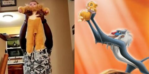 Adorable Dad Stages The Opening Scene From Lion King With The Help Of His Baby Daughter