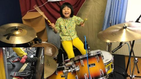 This 8-Year-Old Girl Is An Insanely Good Drummer