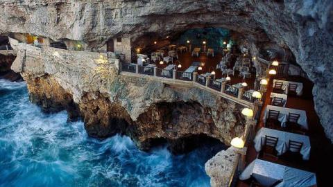 This Stunning Hotel-Restaurant Carved Into A Cliff Has To Be Seen To Be Believed