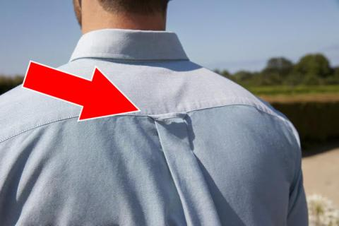 There's A Really Surprising Reason Why Men's Shirts Have This Little Loop At The Back