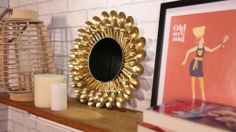 Upcycle Simple Plastic Spoons Into This Gorgeous Mirror