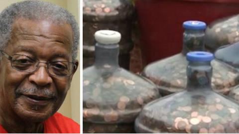 After Collecting Pennies For 45 Years, This Man Got An Incredible Surprise