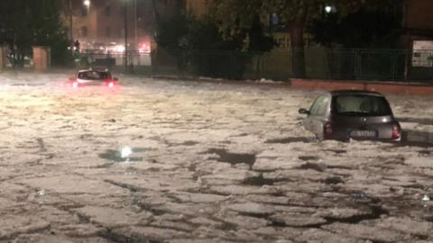 The Huge Hailstorm That Turned Rome Into The Antarctic Ocean
