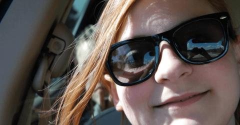 She Took A Selfie In The Car - Then Noticed Something Horrifying...