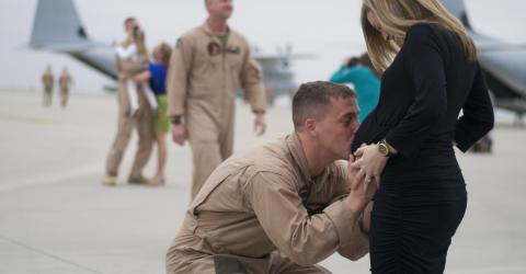 Watch As This Soldier Returns After 3 Years To Find His Wife 7 Months Pregnant