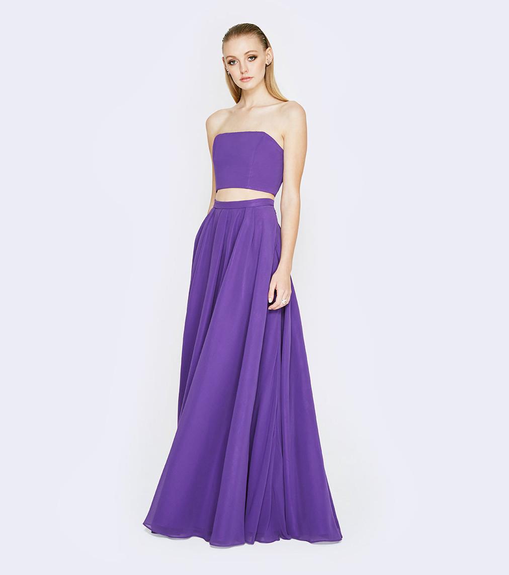Vistoso La Dama De Honor Vestido De Color Rosa Fucsia Composición ...