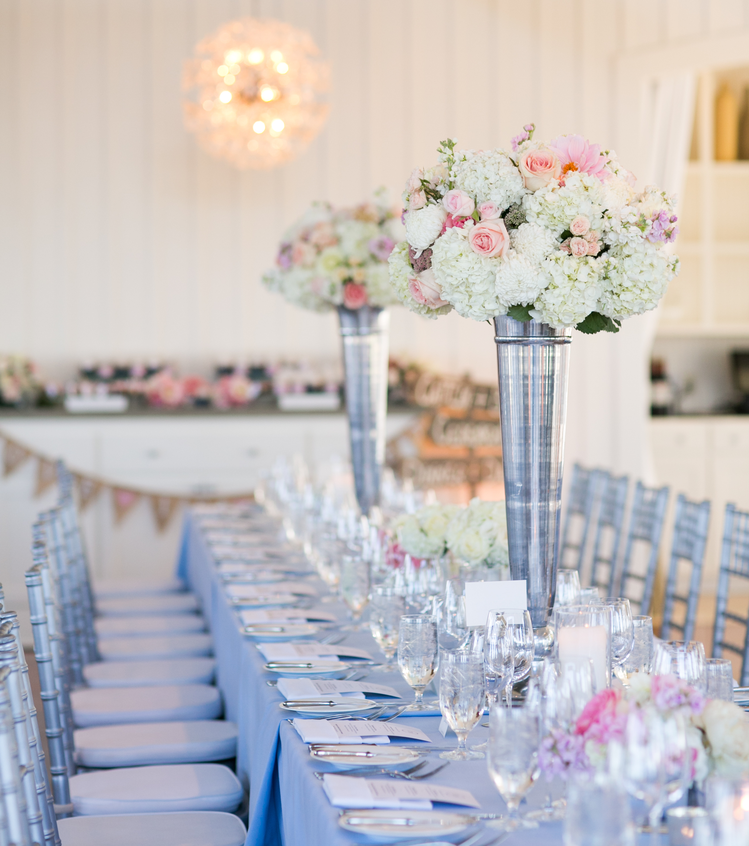 How To Add Pink And Blue Into Your Wedding