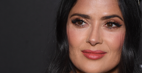Salma Hayek Stuns In No-Makeup Beach Photos