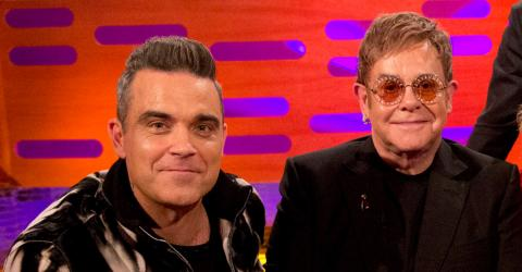 Robbie Williams Reveals The Day Elton John Saved Him From A Complete Downfall