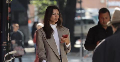Emily Ratajkowski's Boots Are Still Available At Zara