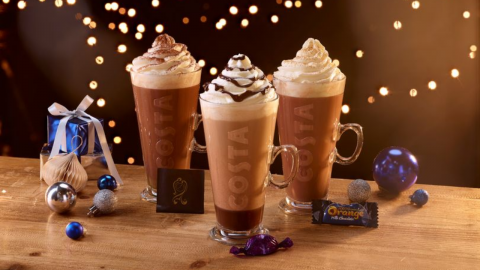 This year, Costa's limited edition Christmas range will contain an extra special treat