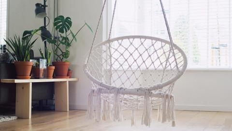 This hanging macrame chair from B&M costs just £30