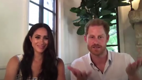 Harry and Meghan Markle Spread Kind Words About the Queen in Hopes to Work Their Way Back into Her Good Books