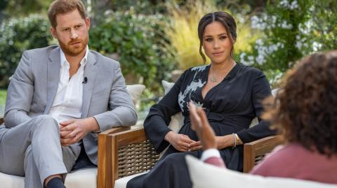 Harry and Meghan reveal Royal Family made racist comments about Archie's skin colour