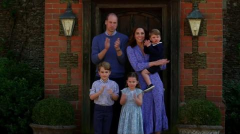 Cambridge fans rejoice over photo of William being a doting father with George, Louis and Charlotte