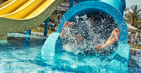 Mother On Holiday Was Having Fun At A Water Park, Then Panic Set In For Everybody In The Pool
