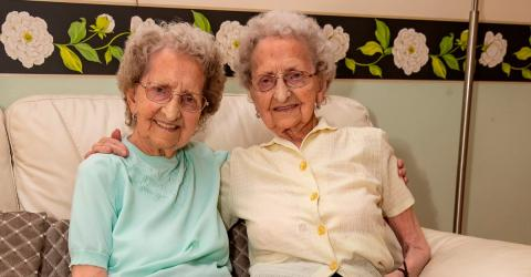 95-Year-Old Identical Twins Share Their Fitness Tips On Instagram