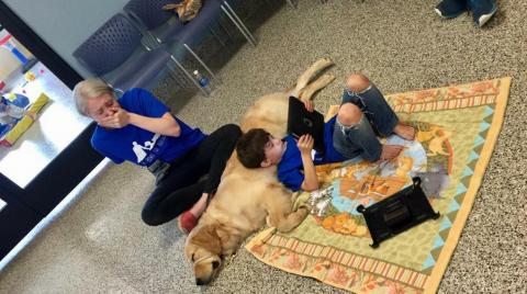 This Mother Bursts Into Tears At The Sight Of Her Son And His Dog
