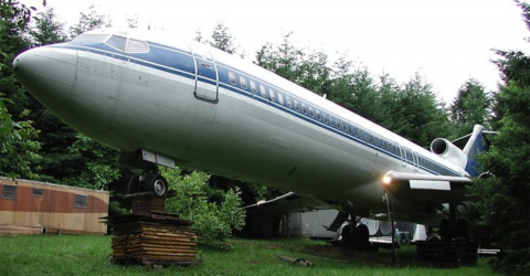 He lived in a Boeing 727 for 15 years and now he has even bigger plans