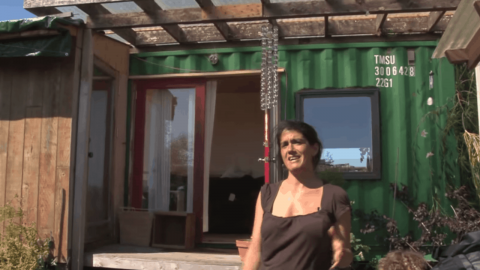 This woman lives in a shipping container, but what's inside will take your breath away