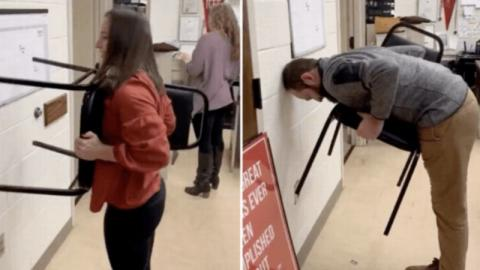 """""""Chair Challenge"""": The New Viral Challenge That Men Can't Complete! (VIDEO)"""
